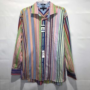 Tommy Hilfiger 80's Fabric Stripped Shirt XL